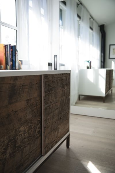 Modern wood furniture with a blend of reclaimed wood. | Union Wood Co. in Vancouver, BC