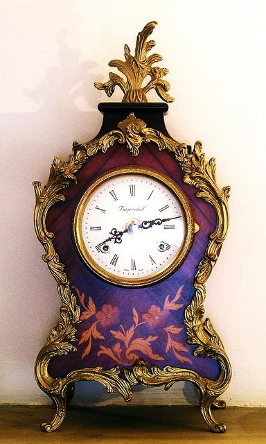 Pretty Antique French Clock | Flickr - Photo Sharing!