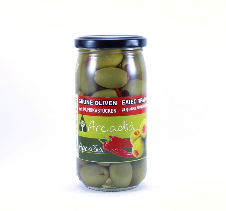 ''ARKADIA'' Green Olives stuffed with Red Pepper