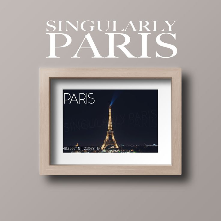 Us Lat Long Map%0A Nighttime Eiffel Tower Print Featuring Paris Latitude and Longitude  Coordinates            N           E Nighttime shot featuring the iconic  Eiffel Tower