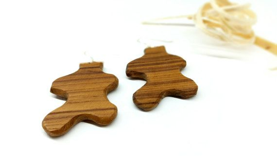Unique Wood Earrings Natural Earrings Wood by TheWoodArtShop