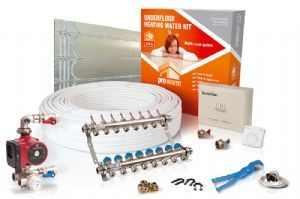 Water underfloor heating | Standard room water underfloor heating kit to cover 15m2