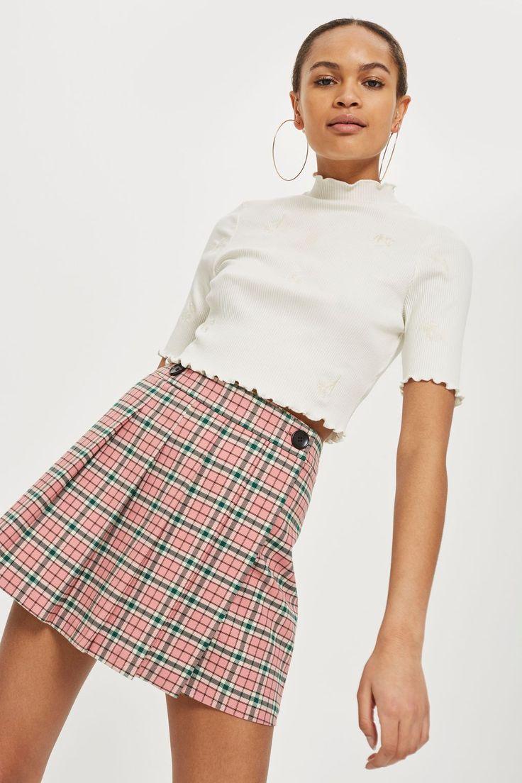 Summer Checked Mini Kilt Skirt