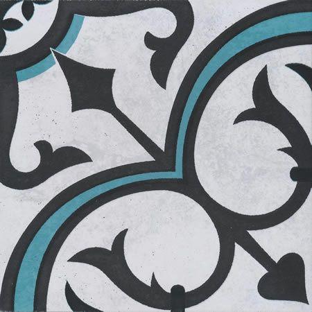 Artisan Winchester Tourquoise/Black 200x200 - tileSTONEpaver