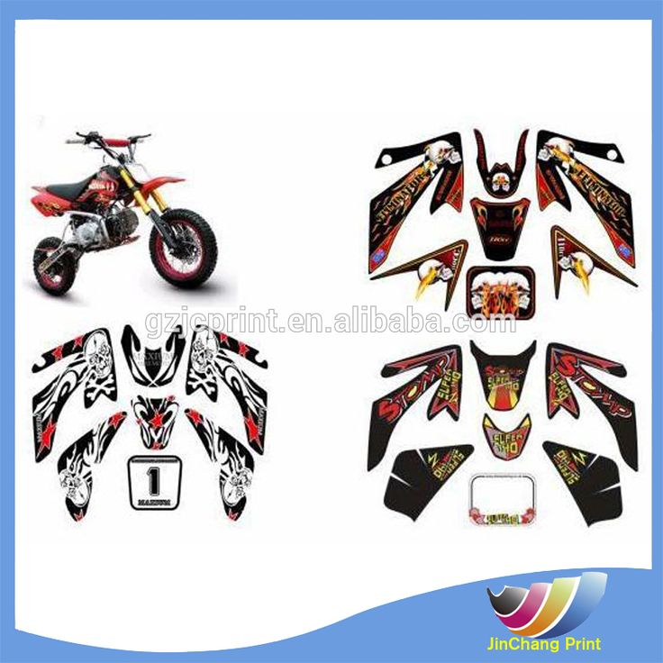 Fashion waterproof PVC/plastic motorcycle sticker