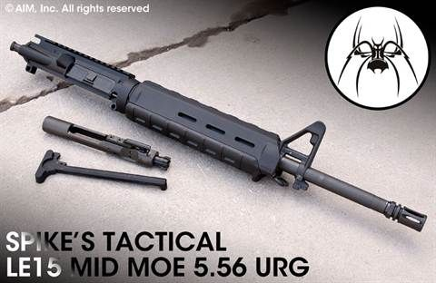"""Spikes Tactical 16"""" Mid-Length 5.56/.223 Upper Receiver"""