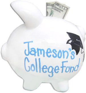 Personalized College Fund Piggy Bank Personalized Piggy