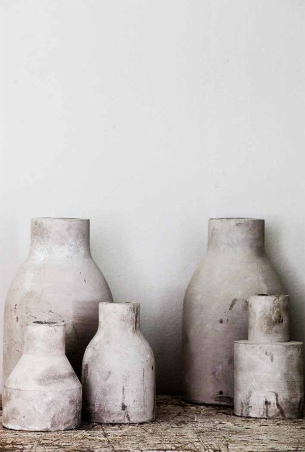 Tell Me More - concrete vases: