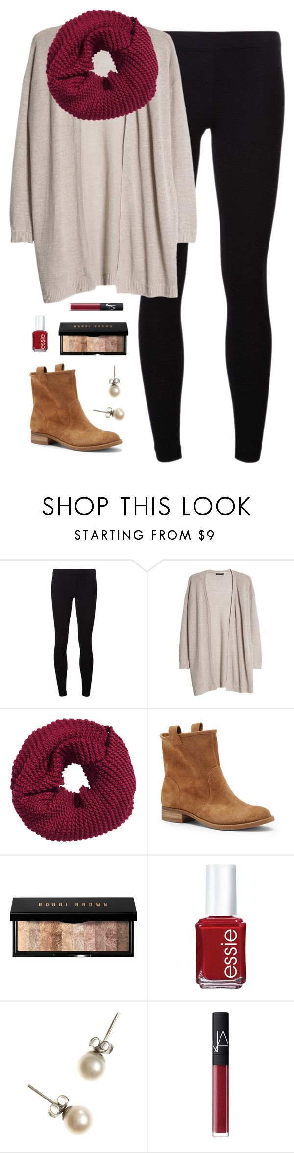"""""""booties"""" by classically-preppy ❤ liked on Polyvore featuring James Perse, MANGO, H&M, Sole Society, Bobbi Brown Cosmetics, Essie, J.Crew and NARS Cosmetics"""