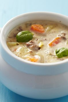Weight Watchers 7 Smart Points Slow Cooker Cheeseburger Soup Recipe