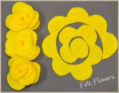 yellow felt flowers
