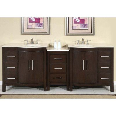 Web Image Gallery Silkroad Exclusive Double Bathroom Vanity Hyp