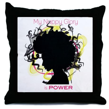 My Nappy Throw Pillow (PINK)