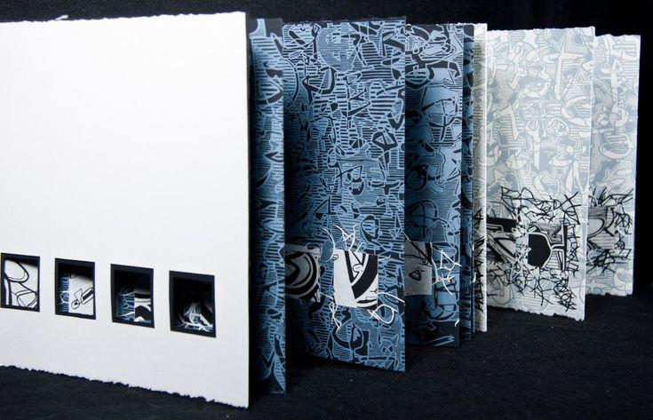 Cryptic Writings 5 | artists book by Merrill Shatzman - installation view, 2012 http://issuu.com/mersey