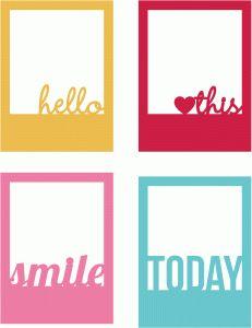 Silhouette Online Store: hello, heart this, smile & today polaroids