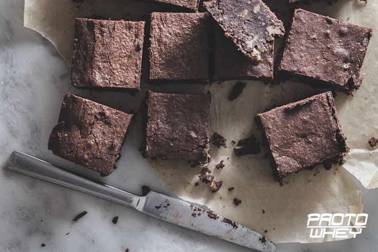 Delicious Chocolate Brownies with protein powder