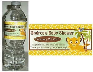 lion king baby shower theme | 20 Lion King Baby Simba Baby Shower Water Bottle Labels | eBay