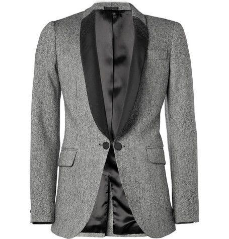 Alexander McQueen Wool-Blend and Satin-Twill Tuxedo Jacket | MR PORTER