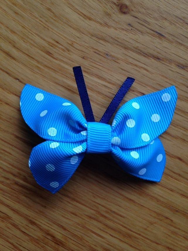 Sky blue butterfly hair clip £3.00