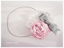 HeadbanB bows and Roses made ​​by Edith Stuff http://pl.dawanda.com/product/50418210-Opaska-do-wlosow-kokardy-i-roze