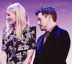 When Robert bit Gwyneth's sleeves: | Robert Downey Jr. And Gwyneth Paltrow's Most AdorableMoments
