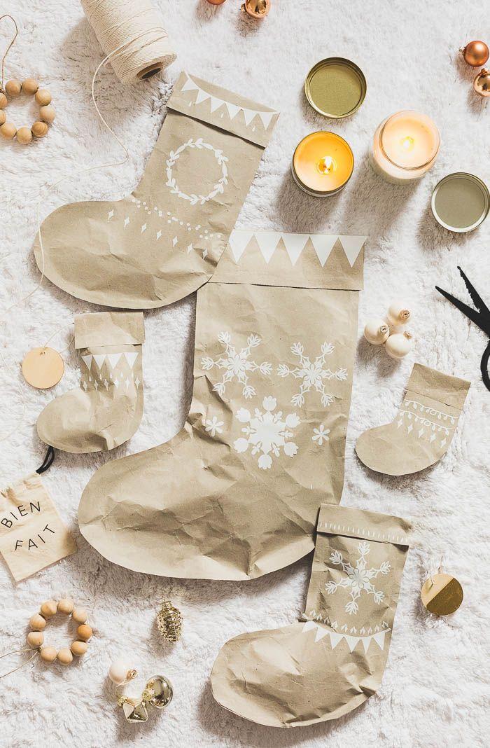 DIY Stocking Gift Wrap | @fallfordiy