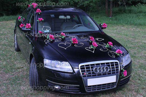 Wedding Car Decoration Kit Burgundy Roses DEK1022 by BridalJackets