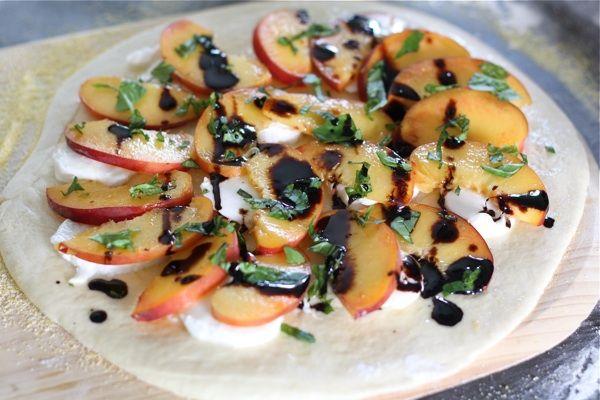 peach basil mozzarella amp balsamic pizza http www twopeasandtheirpod ...