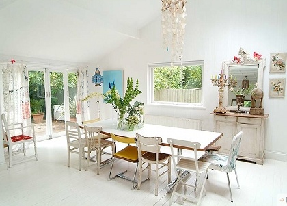 lovely mismatched chairs