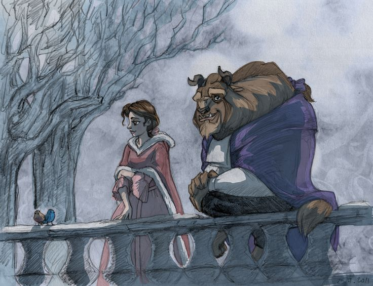 Evening stroll by ~TaijaVigilia on deviantART (Belle ~ Beauty and the Beast)