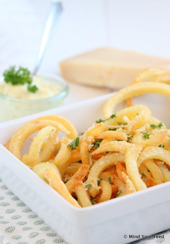 Truffel peterselie Twister Fries met Parmezaan   #truffle #parsley