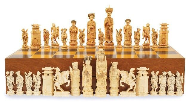 how to clean ivory chess pieces