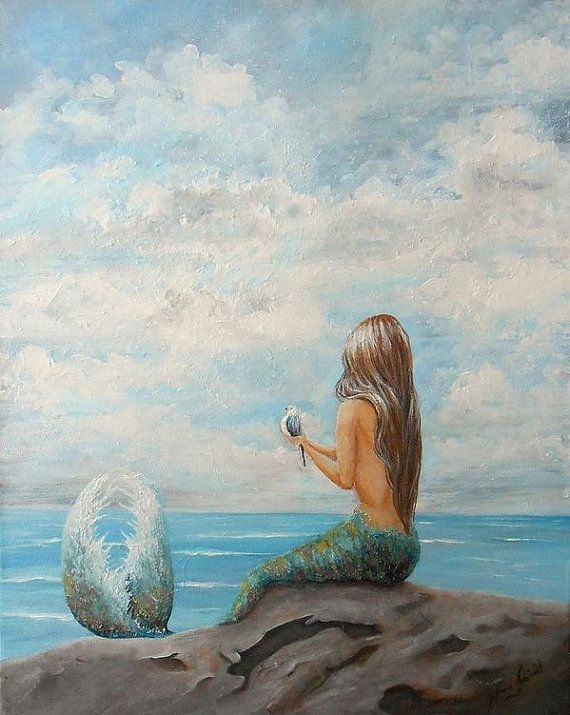 25  great ideas about Beach wall art on Pinterest Mermaid wall art mermaid sitting on a rock beach wall by NancyQart. Artwork For Bedroom. Home Design Ideas