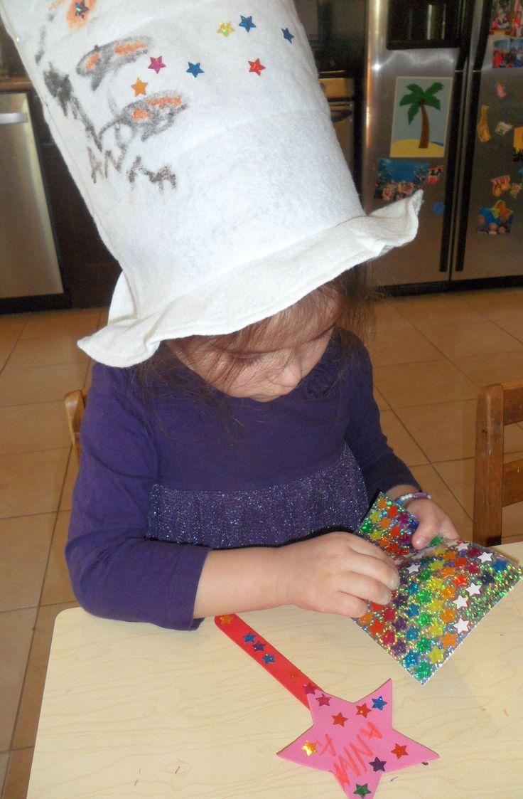 Making my magic hat and wand