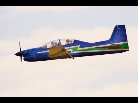 LARGE SCALE RC EMBRAER 312 TUCANO TURBO PROP - ANDY & KEN LMA RAF EAST K...