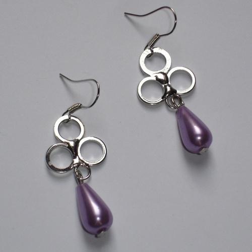 Orecchini TreCerchi Lilla  TreCerchi earrings