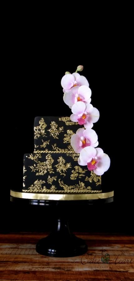 Black & Gold Toile - Cake by Cake Heart