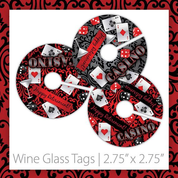 Casino Wine Glass Markers . PRINTABLE . Casino Blush . Happy Retirement . INSTANT DOWNLOAD ~ Casino Wine Markers, Casino Wine Labels, Casino Wine Tags, Casino Party Wine Markers, Casino Night Wine Markers, Casino Party Wine Markers, Casino Party Wine Tags, Casino Night Wine Tags, Casino Theme Party, Damask Casino, Casino Retirement, casino fun, las vegas theme, retirement casino, 30th birthday ~ #casinowinetags #casinoideas #casinoparty ~ https://www.etsy.com/listing/192682606