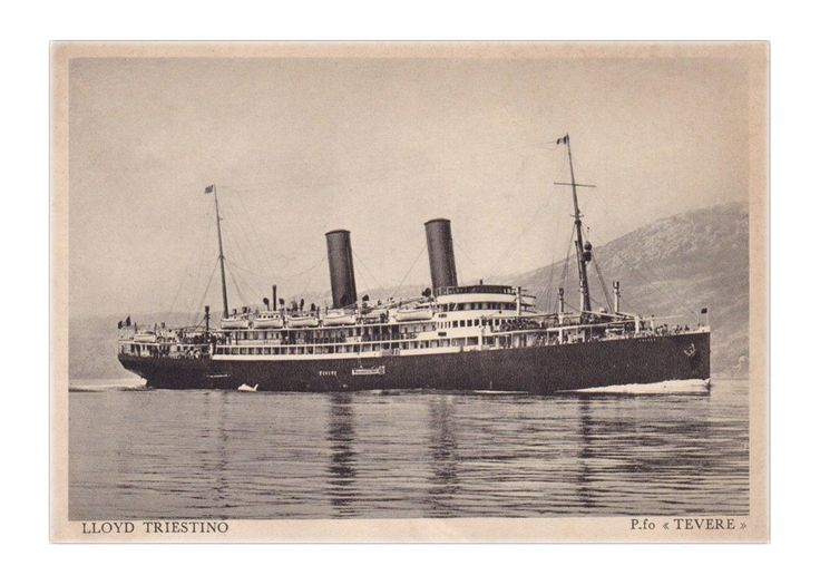 """Steamboat """"Gablonz"""" (The city Jablonec). After the First World War was renamed Tevere/Tiber"""