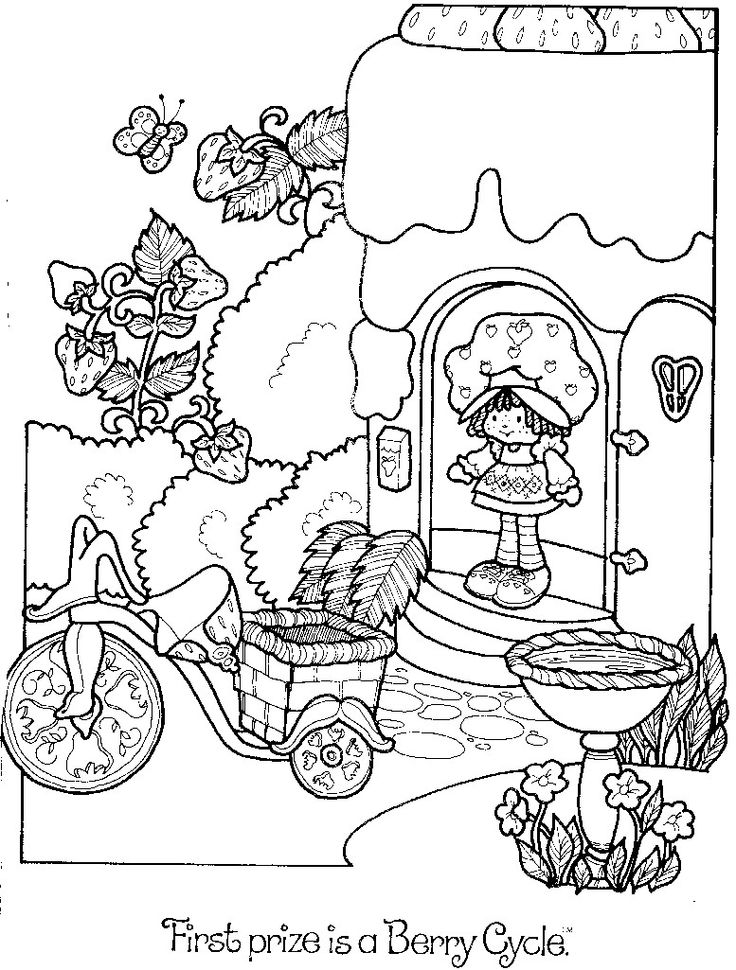 strawberry shortcake doll coloring pages - strawberry shortcake coloring book pages strawberry
