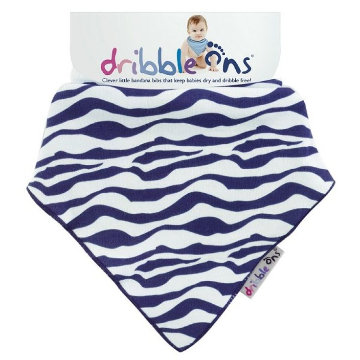 Dribble Ons Designer Dribble on Zebra Stripe