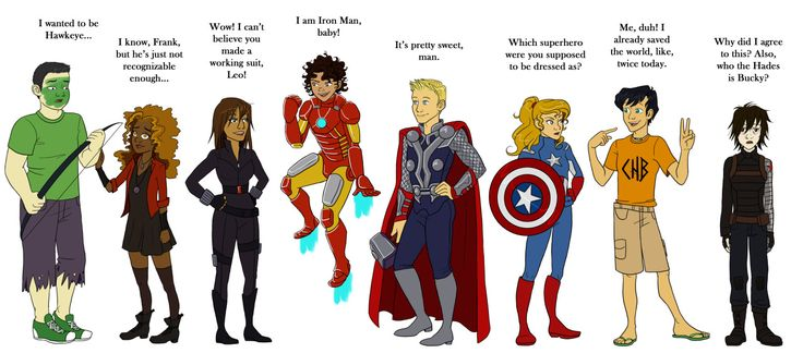 Happy Halloween from the Heroes of Olympus crew! <<<--- Everyone's dressed up and Perce's like.. nah