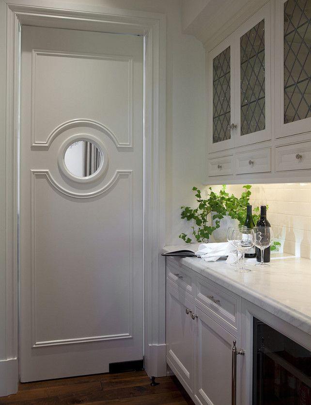 Butler's pantry. Butler's pantry door. #Butlerspantry #door  Matthew Thomas Architecture, LLC.