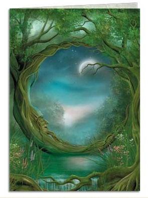 Moon Tree: Magic Forests, Fairies Tal, Enchanted Forests, Art Prints, Moon Art, Green One, Sweet Dreams, The Moon, Moon Garden