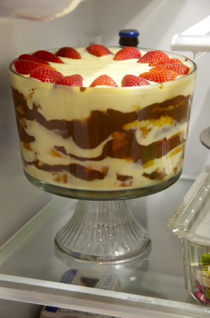 Zuppa inglese (Italian Trifle)   Memorie di Angelina  idea: less sugar in crema (550g-ish or even less), less chocolate (1/4, not 1/3)