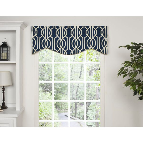 Andros Blue Shaped Valance - Overstock™ Shopping - Great Deals on Valances