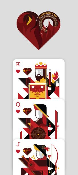 Elemental Deck of Cards - Fire