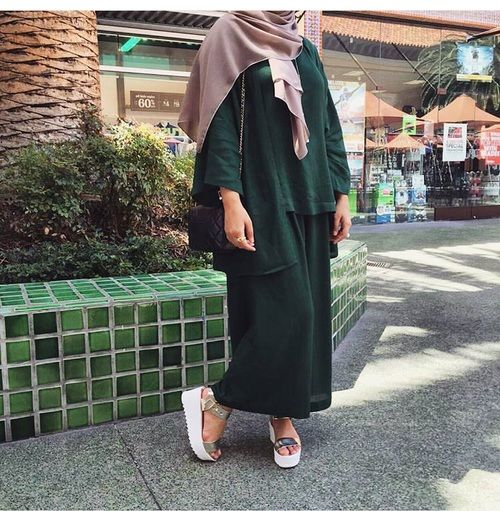 Elegant Hijab Style with Maxi Skirts