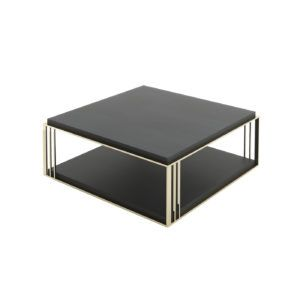 Laskasas | Decorate Life | www.laskasas.com | Living Room Decor | Megan coffee table is presented here with grey eucalyptus furniture piece with gilded stainless steel structure. A must-have piece in your living room decor