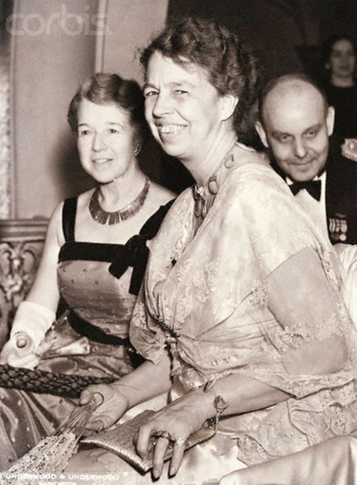 Mrs. Franklin D. Roosevelt, the First Lady, photographed tonight at the President's birthday ball celebration at the fashionable Mayflower in Washington, where she was the guest of honor. Mrs. Frederick H. Brooks, Chairman of the board of the Children's Hospital, is photographed with Mrs. Roosevelt January 30, 1936 . ♡✿♡✿♡✿.❀♡✿♡❁♡✾♡✽♡  http://www.fdrlibrary.marist.edu/aboutfdr/biographiesandmore.html    http://www.nps.gov/nr/travel/presidents/eleanor_roosevelt_valkill.html